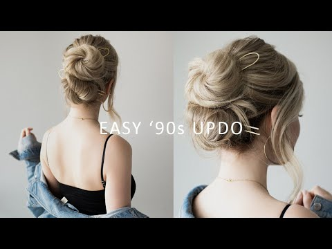how-to:-easy-updo---'90s-inspired-😎-perfect-for-prom,-weddings,-work