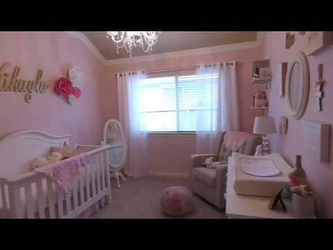 Baby Girl Nursery Tour 2017   Pink + Gold   Soft + Girly