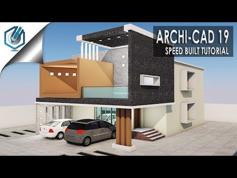 Archi cad 19- SPEED BUILD- Modern Residential building