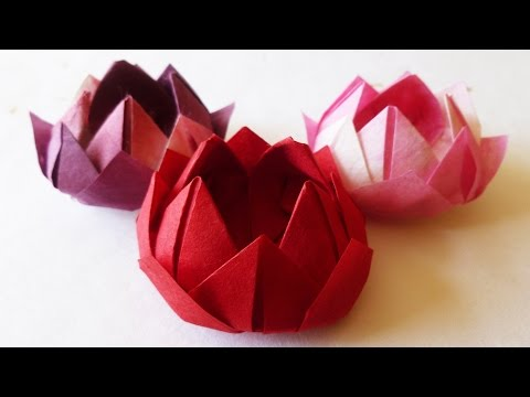 Japanese Traditional Origami WATER LILY, LOTUS FLOWER