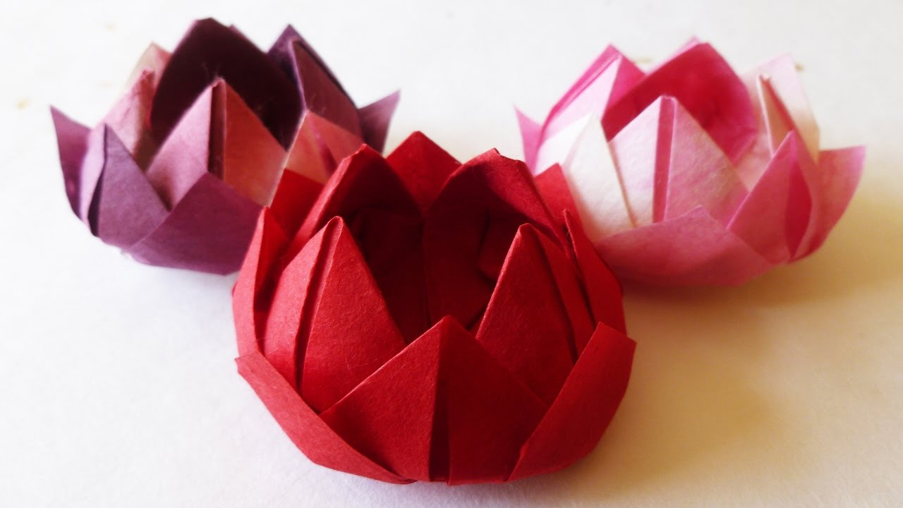 Japanese traditional origami water lily lotus flower youtube japanese traditional origami water lily lotus flower mightylinksfo