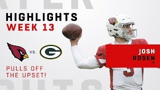 Josh Rosen Highlights in Upset Over Packers