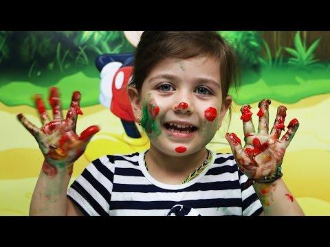 Играем вместе Пальчиковые краски, рисуем руками. Видео для детей