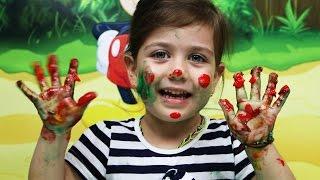 Играем вместе Пальчиковые краски, рисуем руками. Видео для детей(Сегодня мы с Эмилюшей, решили заняться творчеством при помощи пальчиковых красок! Рисовать пальчиковыми..., 2016-06-16T09:20:46.000Z)