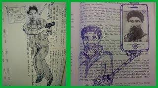 15 gribouillages mémorables retrouvés sur des livres scolaires