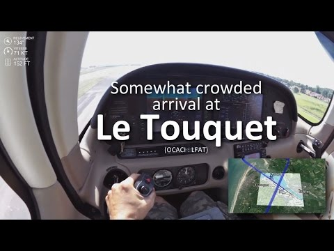 landing-le-touquet---crowded-airspace---cirrus-sr20---subtitled-live-atc-communications