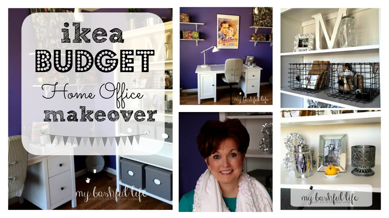 ikea budget office makeover tour youtube. Black Bedroom Furniture Sets. Home Design Ideas