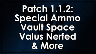 Destiny: Patch 1.1.2 Update - Special Ammo Changes, More Vault Space, Valus Nerfed and More
