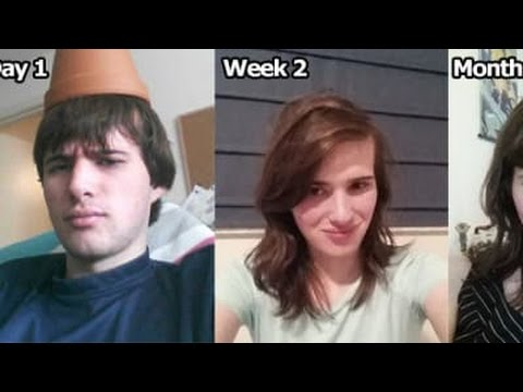 incredible man transformation into a girl after 17 months of hormone treatment.