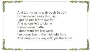 Kid Rock - Midnight Ferry Lyrics