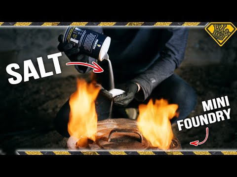 Melting SALT in a 2000F Metal Foundry is Awesome!