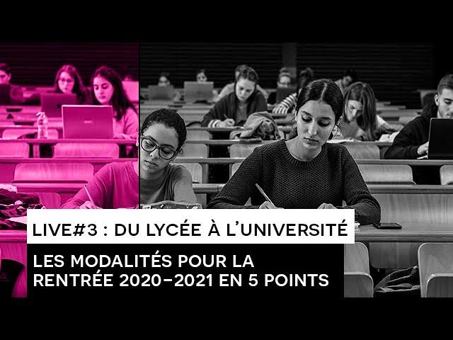[ORIENTATION] : LIVE#3 du Lycée à l'Université - ESCAPADE