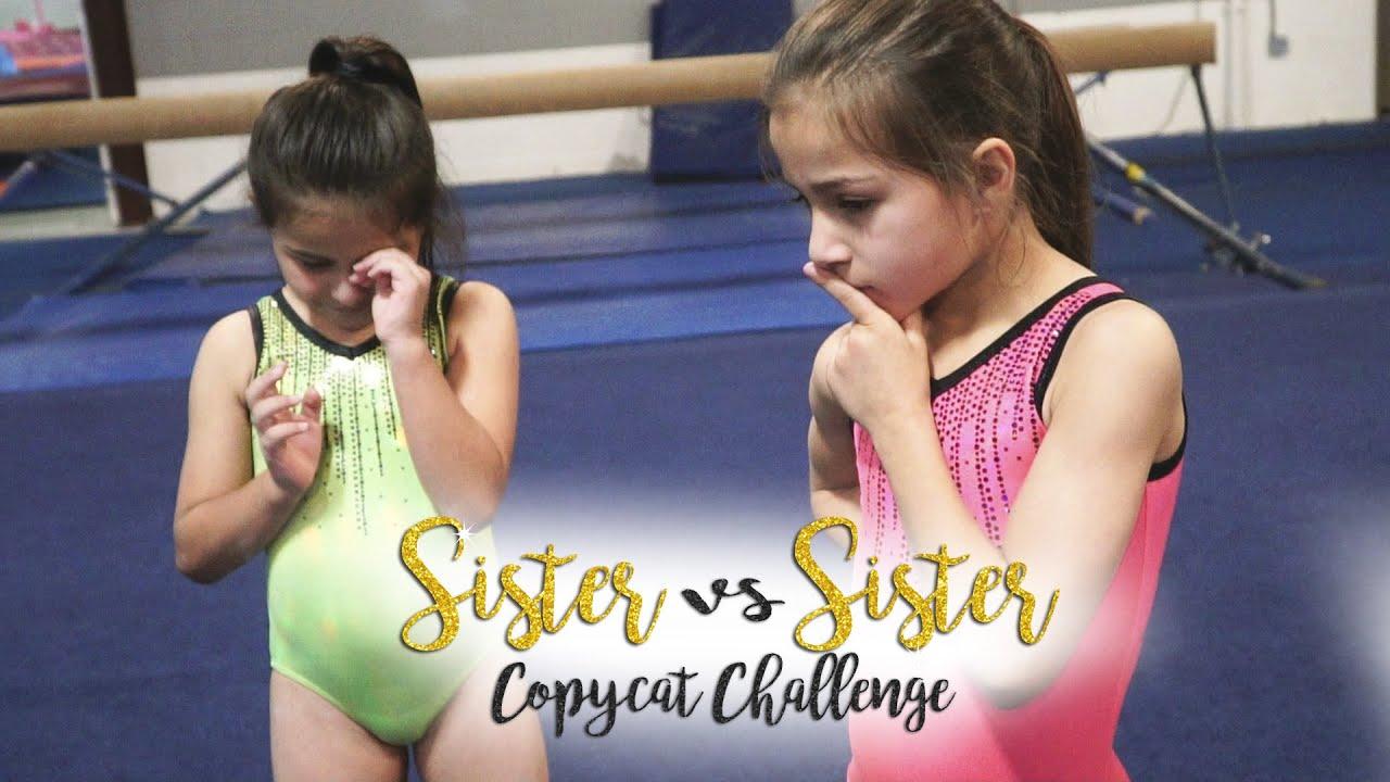 Sister VS Sister Copycat Gymnastics Challenge| Sariah SGG