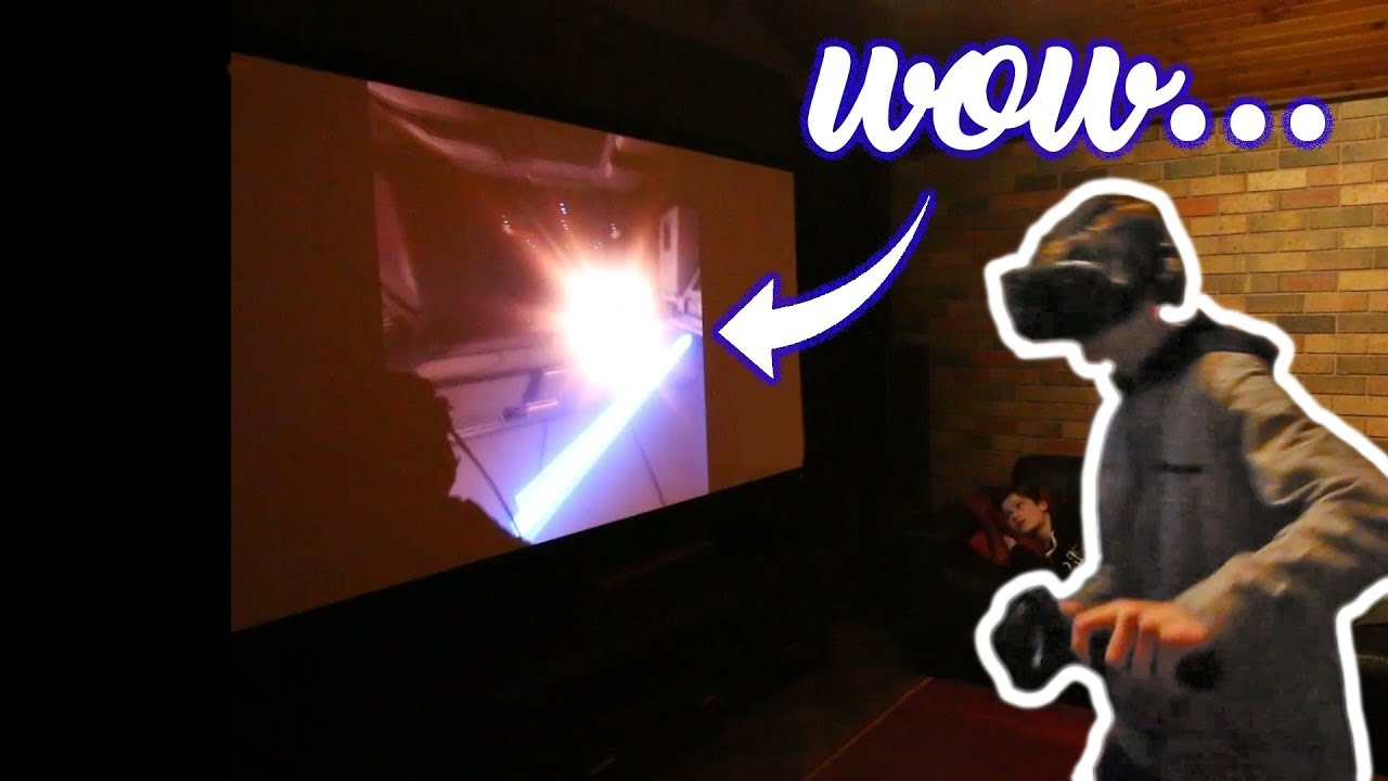 THE BEST HOME VR SETUP EVER - HTC VIVE GTX 1080 dual GAMING MACHINE - 4k  projector -ultimate setup-