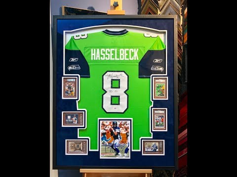Framing A Football Jersey With 6 Graded Cards
