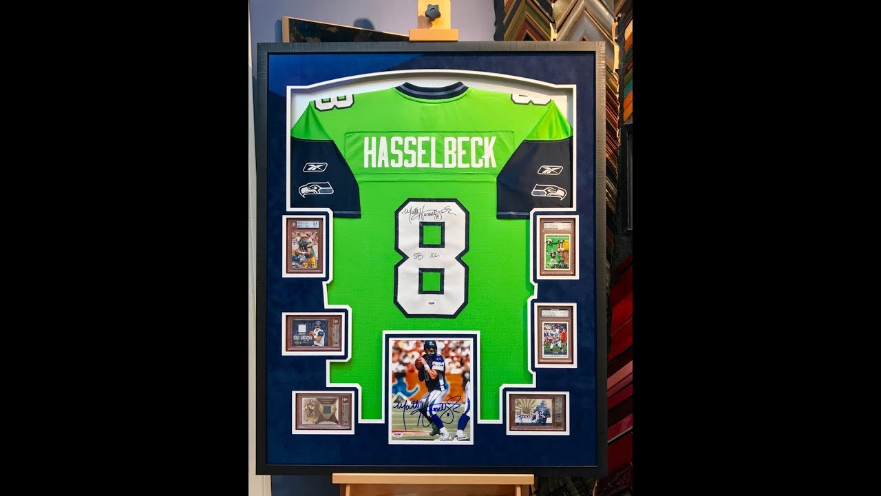 Framing a football jersey with 6 graded cards youtube framing a football jersey with 6 graded cards jeuxipadfo Gallery