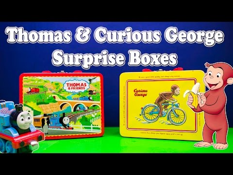 SURPRISE BOX Thomas and Friends Nickelodeon Thomas & PBS Curious George Surprise Egg Video