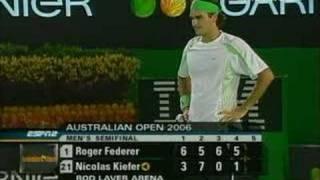 Federer - Best 2nd serve ever