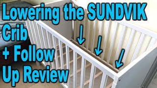 Changing Bed Height on an IKEA SUNDVIK Crib - Demonstration and Review - Clueless Dad