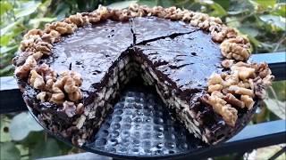 Torte pa Pjekje me Keksa dhe Arra  Delicious Nuts and Almond Cake Recipe