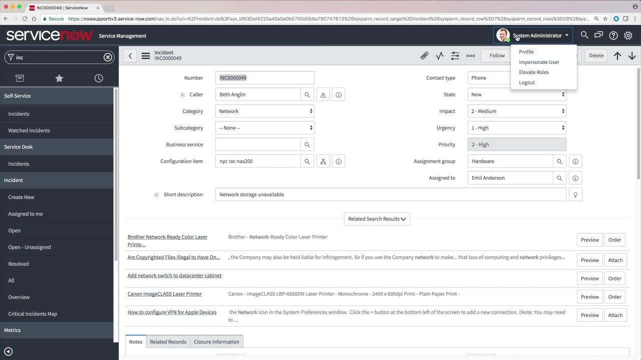 Access Control Lists (ACLs) — ServiceNow Elite
