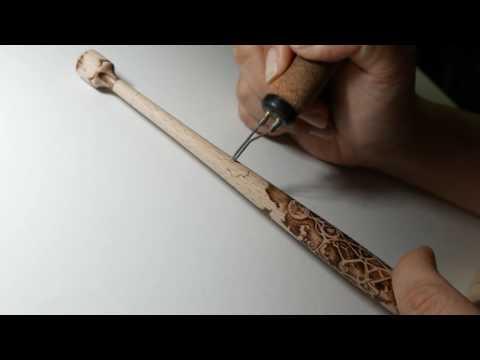 Dip pen holder pyrography 2