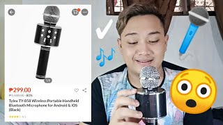 Tylex TY-858 Wireless Portable Handheld Bluetooth Microphone | UNBOXING and REVIEW