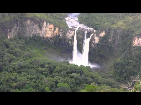 Waterfalls in Chapada dos Veadeiros National Park, Goias, Brazil