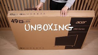unboxing Acer EB490QK - 49
