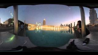 DUBAI MALL FOUNTAIN - FILMED IN 360
