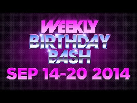 Celebrity Actor Birthdays - September 14-20, 2014 HD