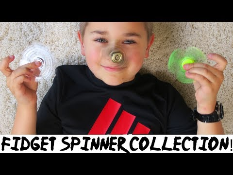 MY FIDGET SPINNER COLLECTION! | COOL & RARE SPINNERS | RADIOJH AUTO