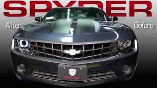 2010 2013 Chevrolet Camaro Dual Led Halo Projector Headlight Spyder Performance Lighting Youtube