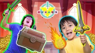 RYAN vs DADDY in EPIC ROBLOX DUNGEON QUEST ! Escape the UNDERGROUND!