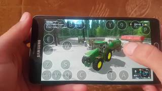 Farming simulator 2017 on android (samsung galaxy note4) muliplayer Hof Bergman map