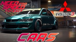 NEED FOR SPEED PAYBACK┃GAMESCOM CARS LIST Reveal #2 (LANCER EVO IX, MERCEDES AMG GTS ..)