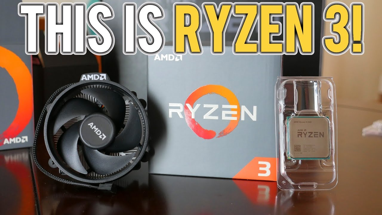 AMD Ryzen 3 1200 & 1300X Unboxing