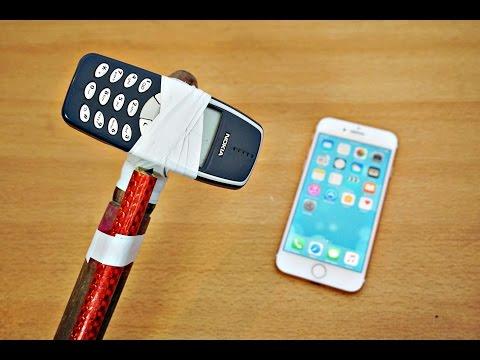 iPhone 7 Nokia 3310 Hammer Test! Will it Survive?