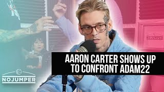 Aaron Carter pulls up and puts Adam22 on Blast!!!