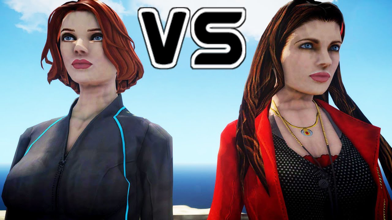 Black Widow Futa scarlet witch vs black widow - epic battle