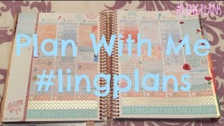 Plan With Me 16 ~ Duck Egg Blue & Peach #lingplans