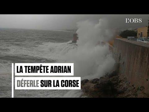 Mini-tornades, trombes d'eau et vents violents en Corse avec la tempête Adrian