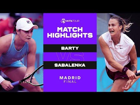 Ash Barty vs. Aryna Sabalenka | 2021 Madrid Final | WTA Match Highlights