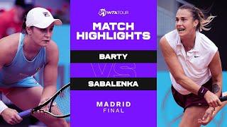 Ash Barty vs. Aryna Sabalenka | 2021 Madrid Final