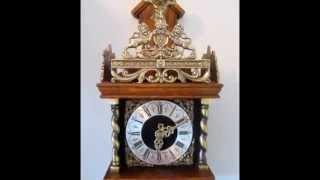 Vintage Warmink Dutch 8 Day Oak Wood Weight Driven Zaanse Wall Clock