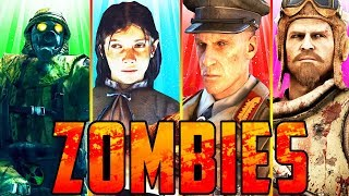 ALL ZOMBIES EASTER EGGS!! (AETHER CREW!) #2 // Black Ops 3 Zombies!