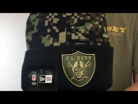 8fff49f1e8888 Raiders  ARMY CAMO PRINT-PLAY  Knit Beanie Hat by New Era - YouTube