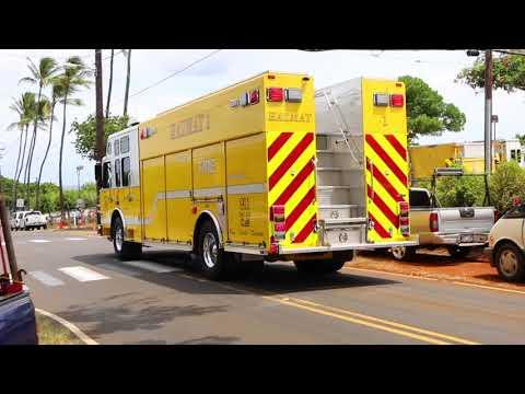 Honolulu Fire Department Responding (HFD) Hazmat/EMS