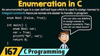 A Enum Data Type In C With Loop