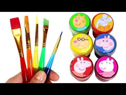 Peppa Pig & Friends Painting Learn Colors with Peppa George Suzy Sheep & Peppa Pig Play Doh Surprise